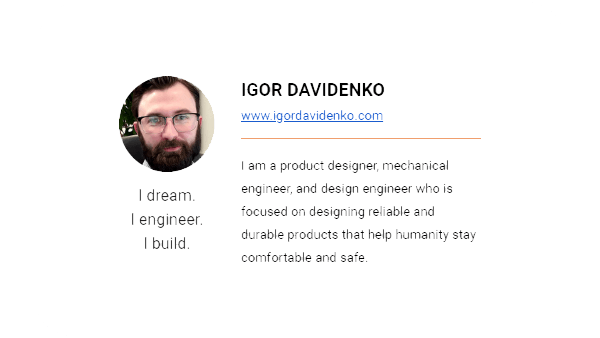 Igor Davidenko's email signature