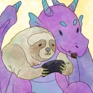Dragon and Sloth Poster
