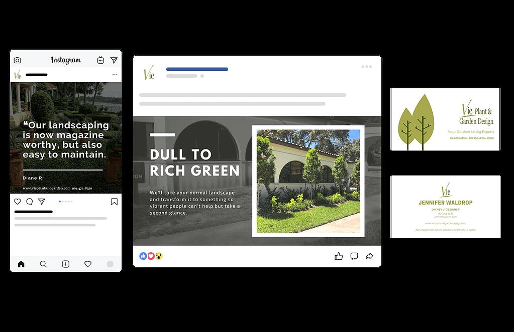 Vie Plant & Garden Design Mockup