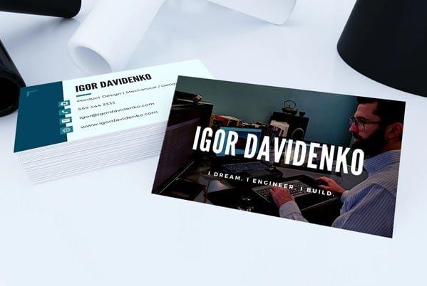 Igor Davidenko's business card